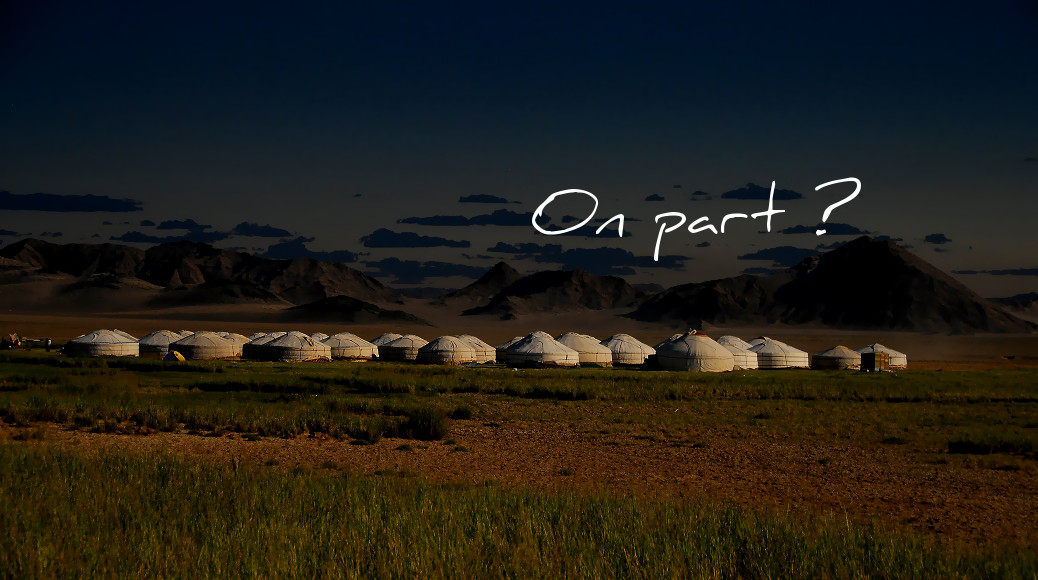 Solar eclipse camp in Mongolia - CC Flickr © Bernd Thaller
